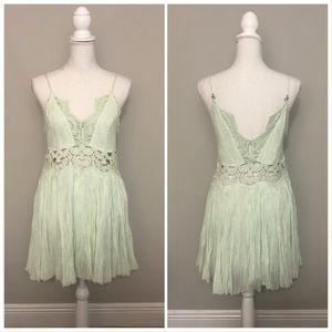 Free People Mint Green Mini Dress